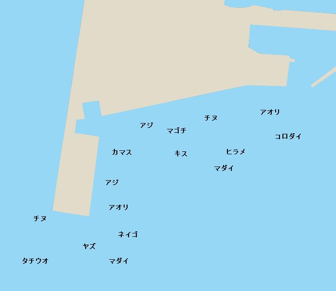 加治木港ポイント図