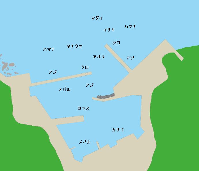 梶寄港ポイント図