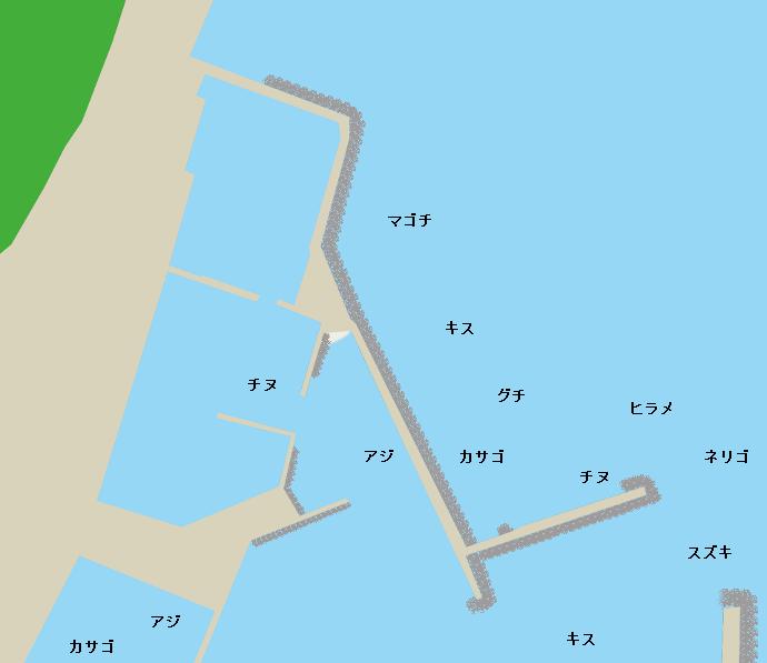 川南漁港ポイント図