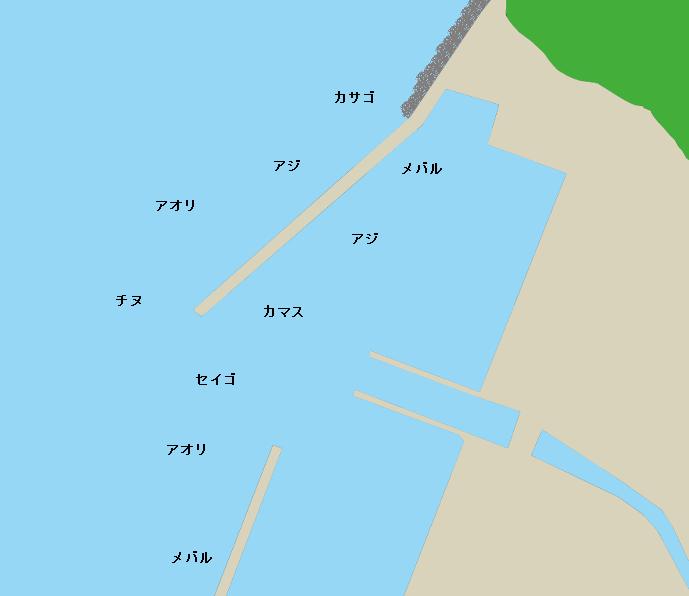 風成港ポイント図