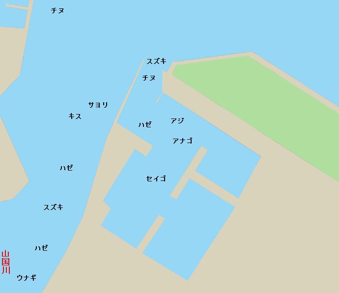 小祝漁港ポイント図