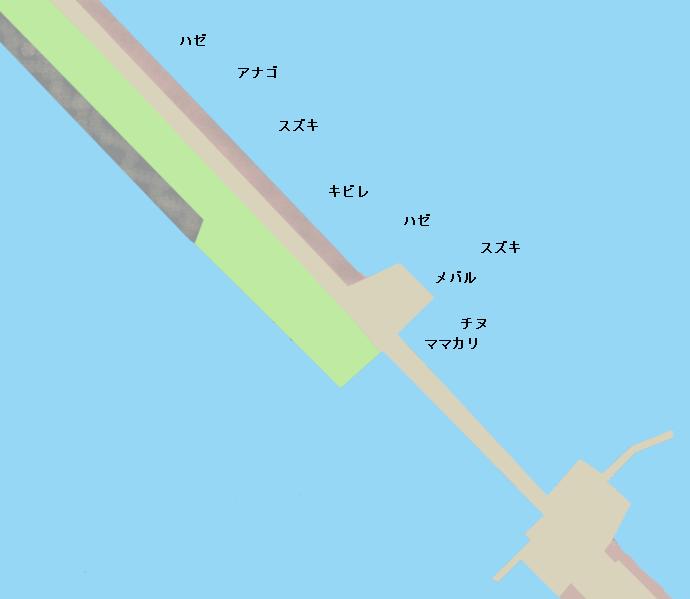 児島湾締切堤防ポイント図