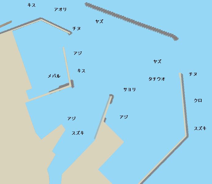 国東港ポイント図