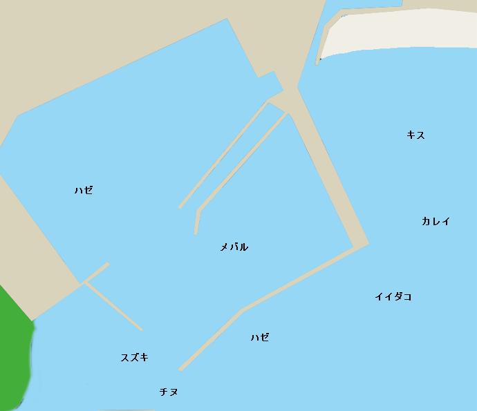 黒崎漁港ポイント図