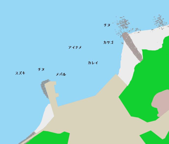 前島旧フェリー乗り場付近のポイント