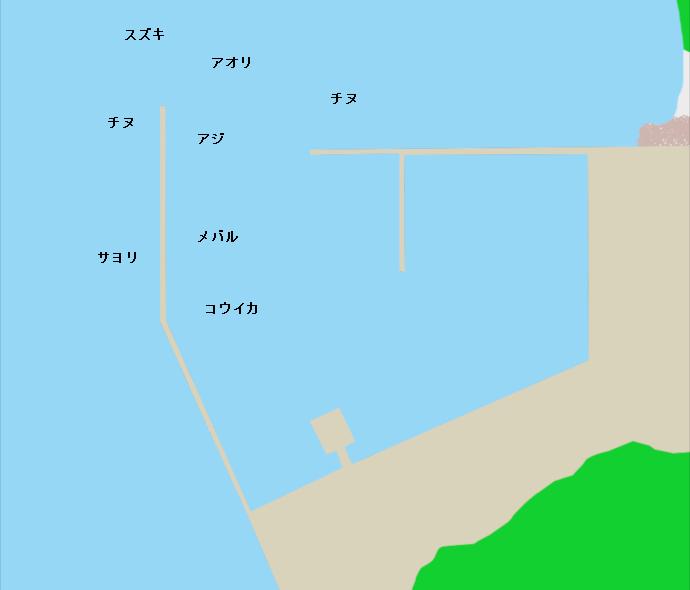 前島港ポイント図