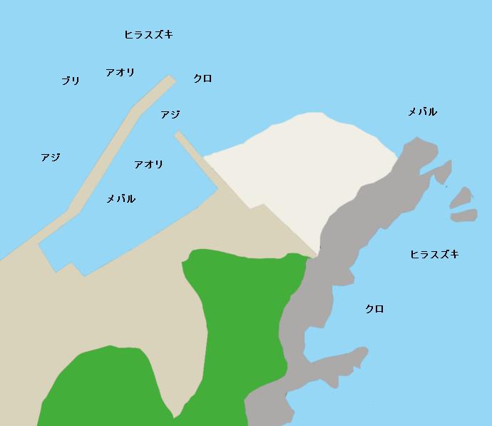 間元港ポイント図
