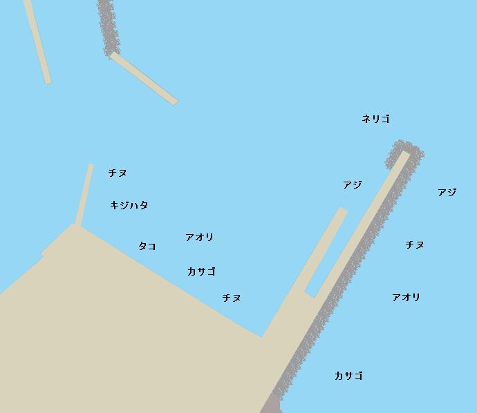 目井津港のポイント図