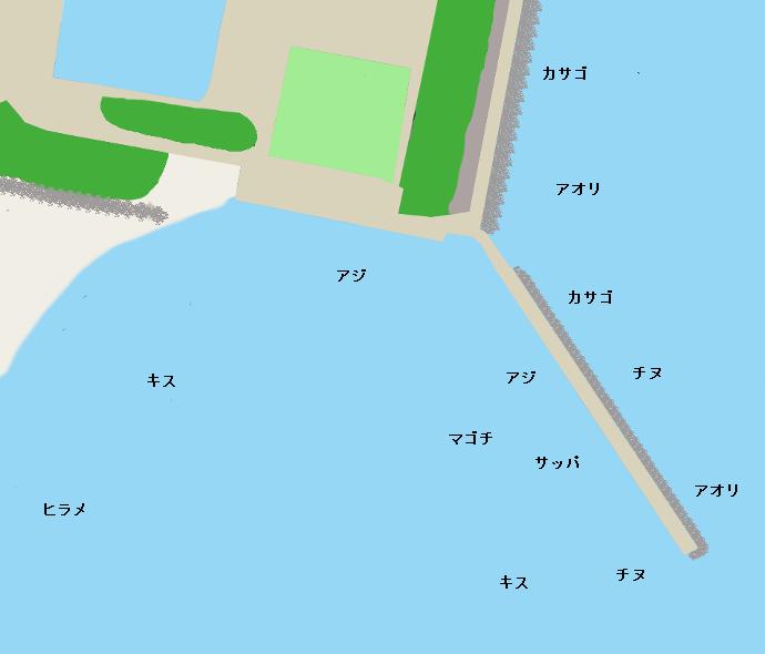 みやざき臨海公園ポイント図