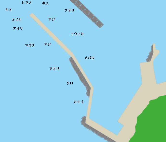 元猿港ポイント図