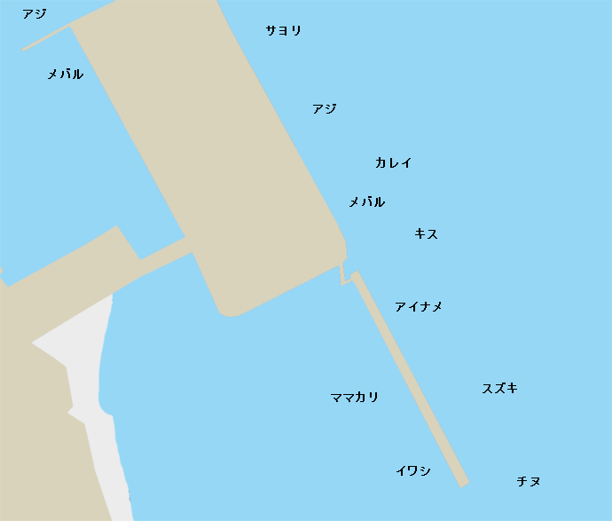 大畠海釣り公園ポイント図