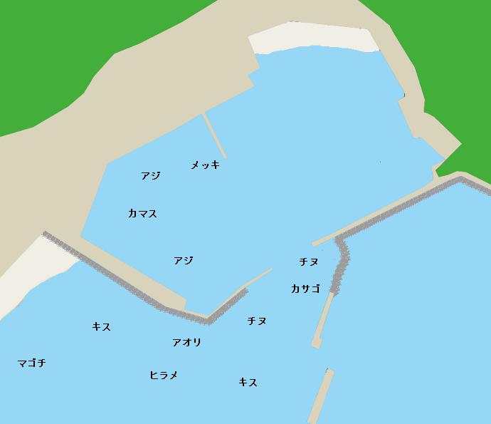 大堂津港ポイント図