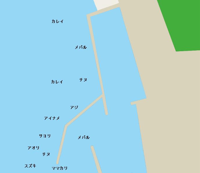 大室港ポイント図