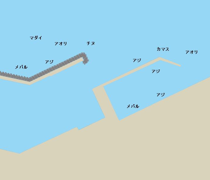 佐賀関港(上浦)ポイント図