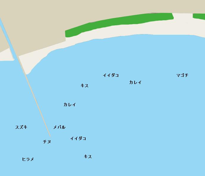 沙美海岸ポイント図