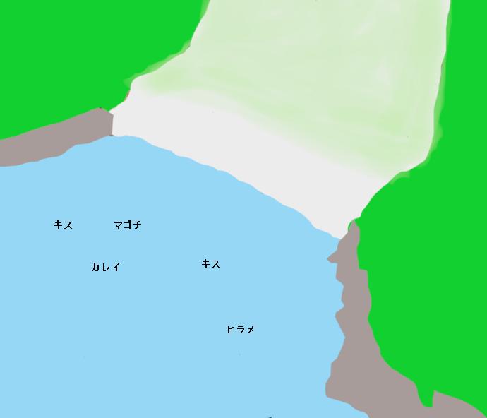 サンビーチ前島ポイント図