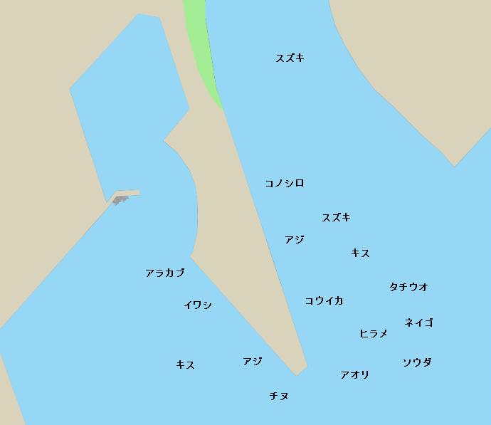 志布志港ポイント図