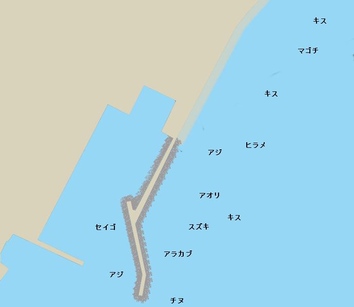 重富港ポイント図