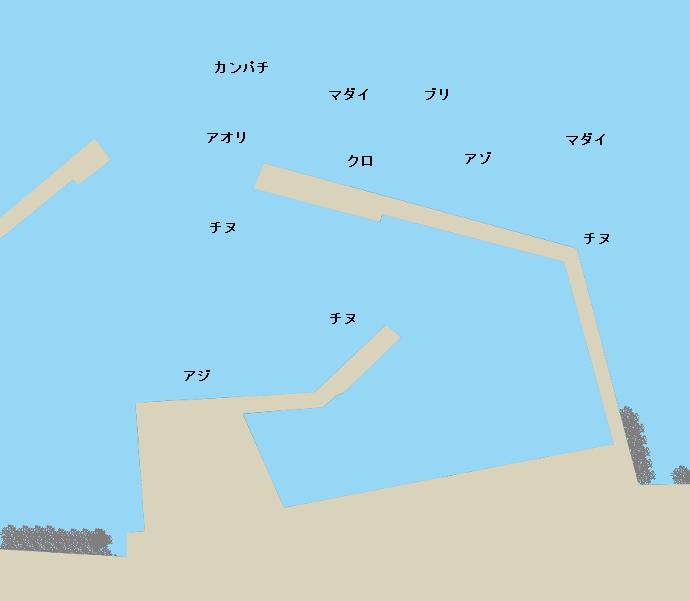 白浜港ポイント図