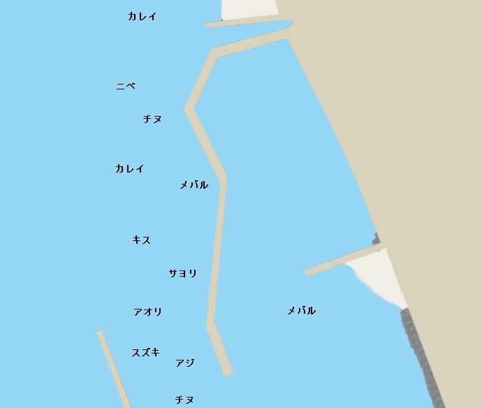 高室港ポイント図