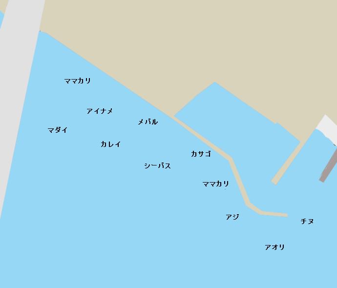 田之浦港ポイント図