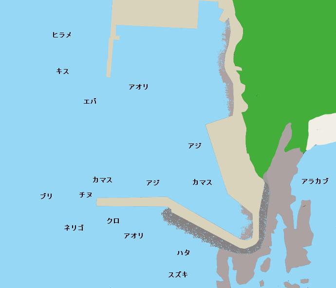 田尻漁港ポイント図