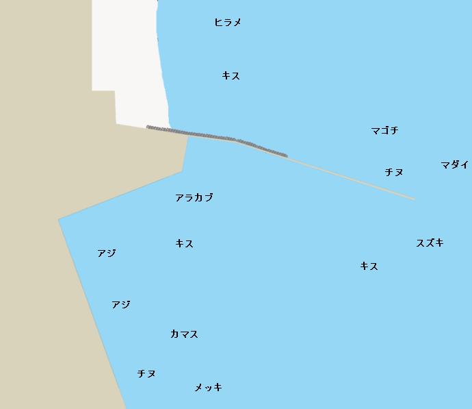 土々呂港ポイント図