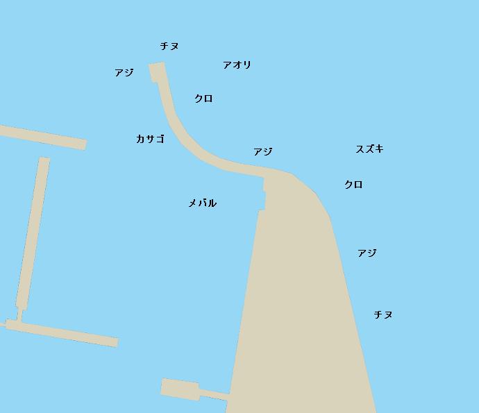 津久見港ポイント図