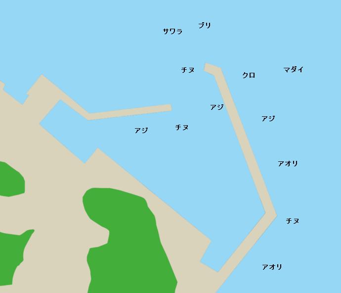 浦之前漁港(10番)ポイント図