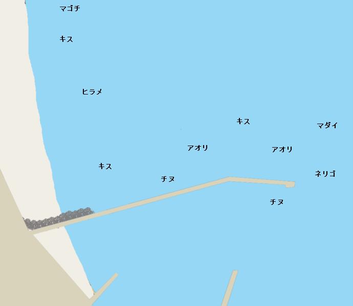 浦城港ポイント図
