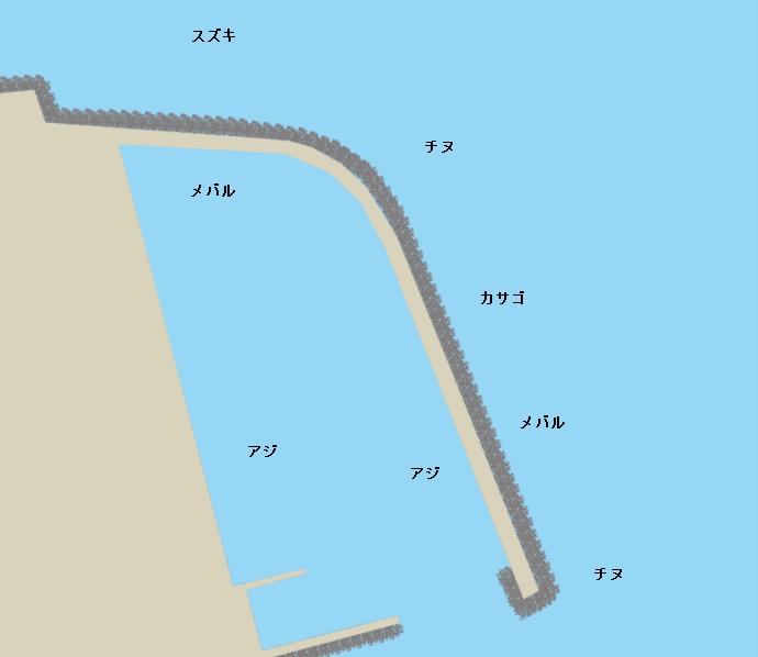 新若草港ポイント図
