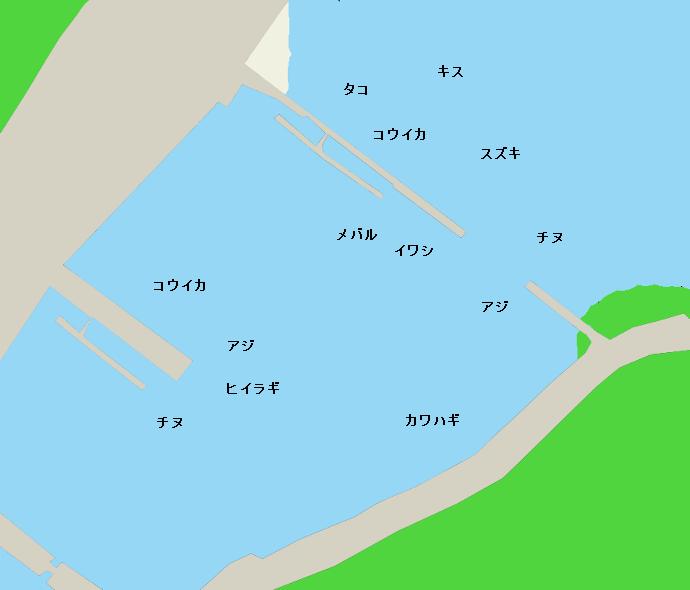 岩谷港ポイント図