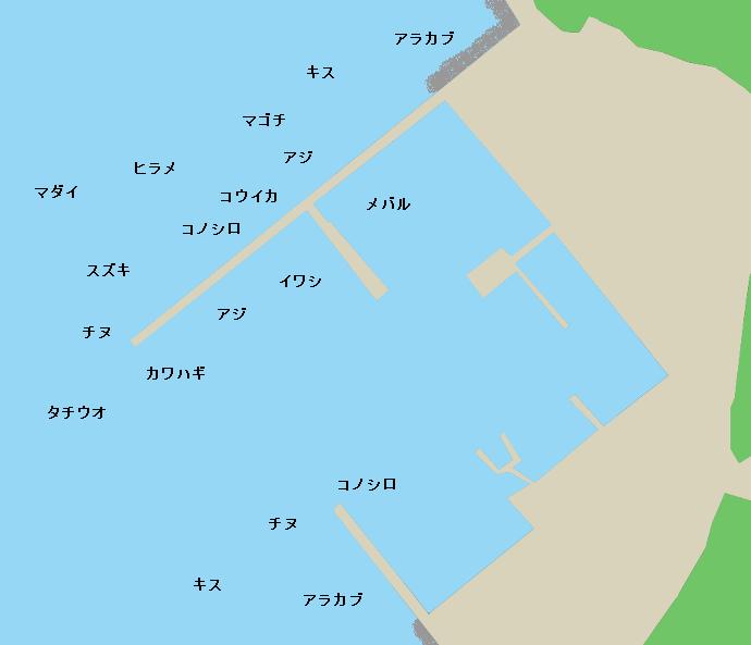 合串漁港ポイント図