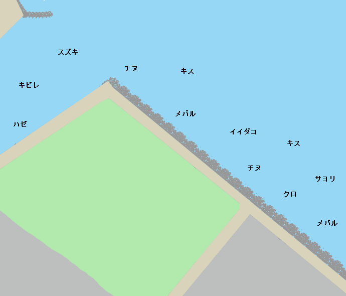 八工区岸壁ポイント図