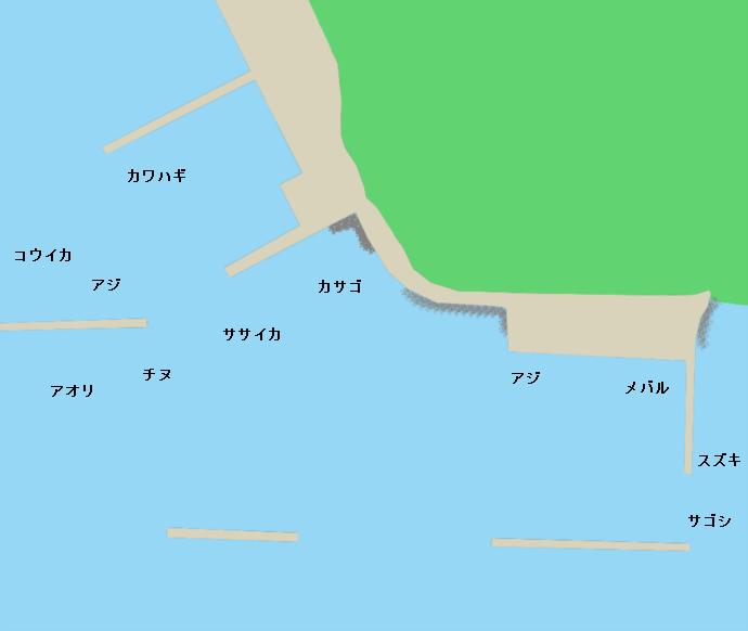 星鹿港ポイント図