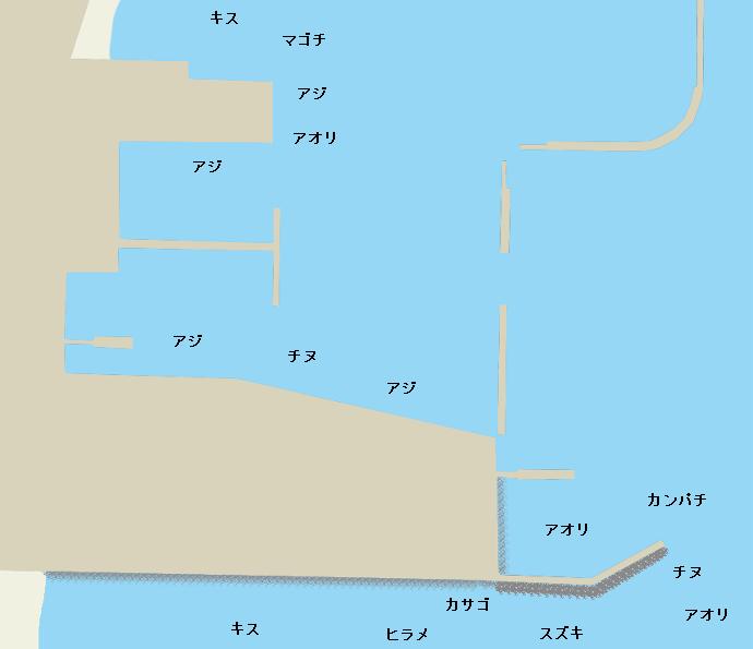 指宿港ポイント図