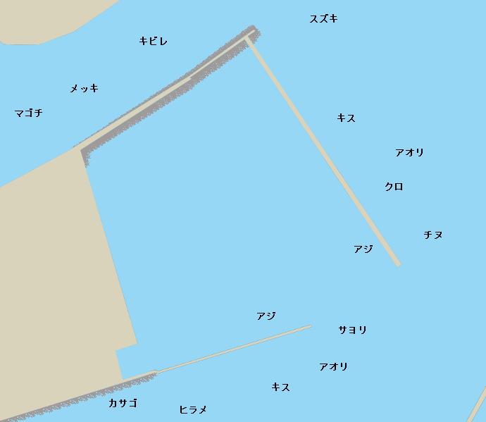 喜入新港ポイント図