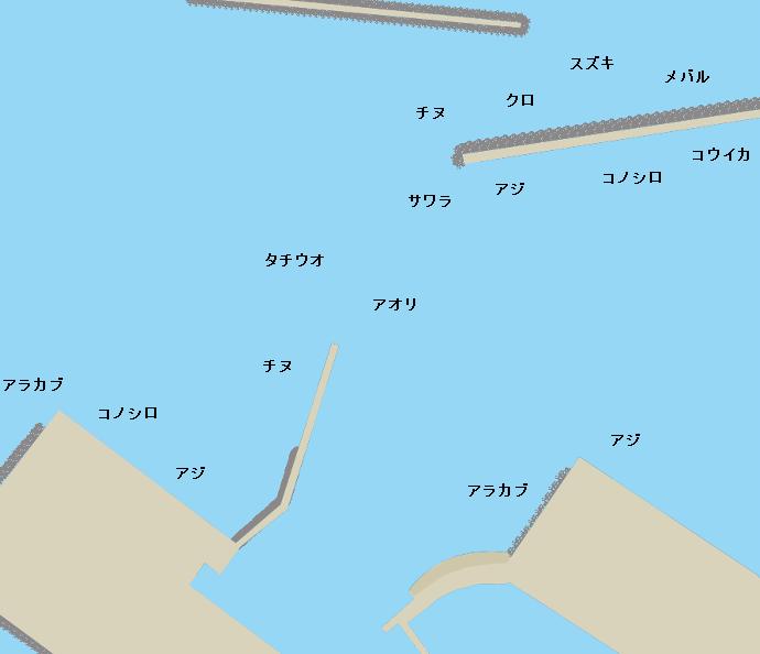 米ノ津港ポイント図