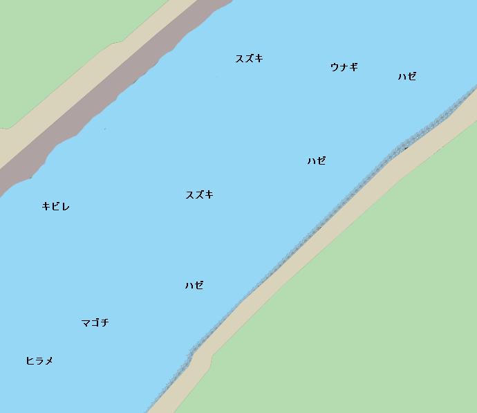 球磨川河口ポイント図