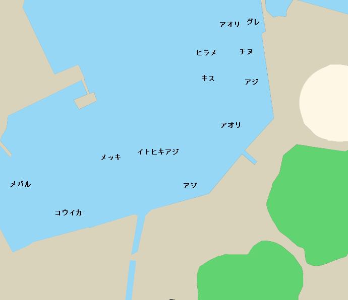 黒潮港ポイント図