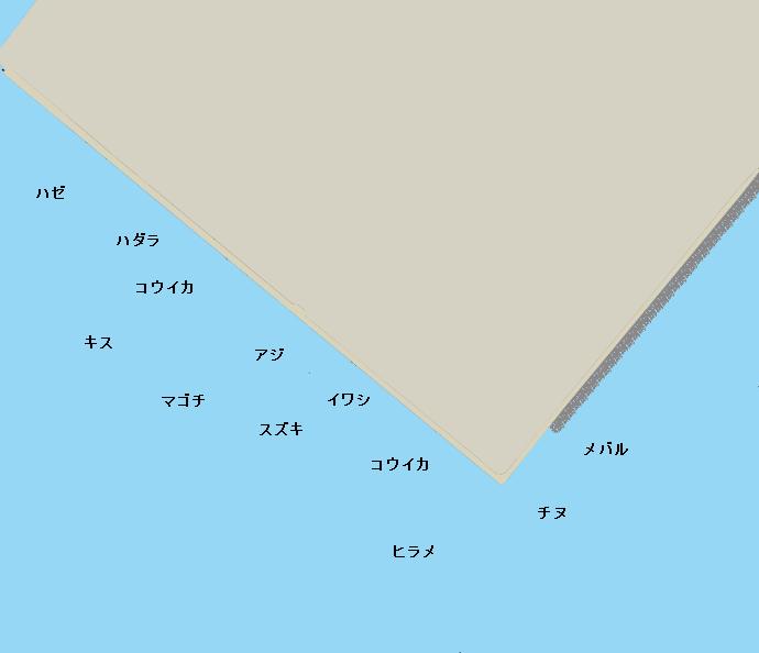 名石浜岸壁ポイント図
