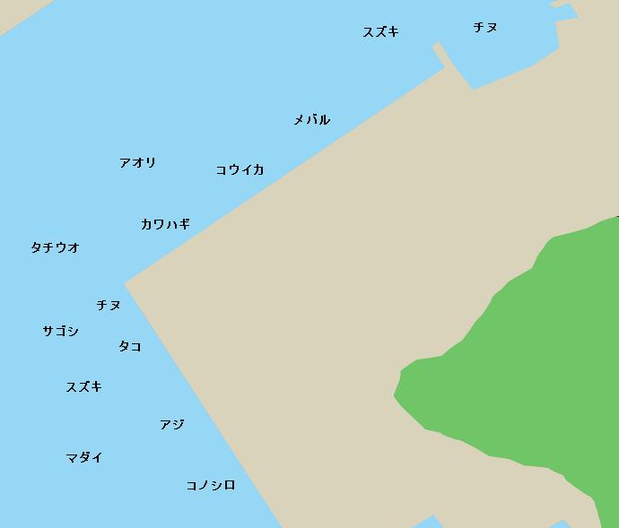 水俣港ポイント図