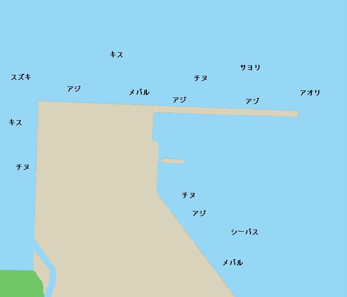 長与港ポイント図