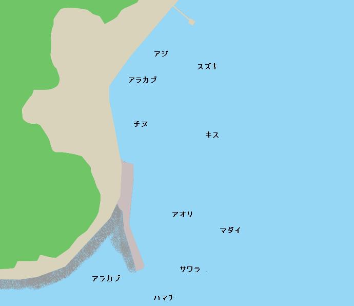 面高港ポイント図