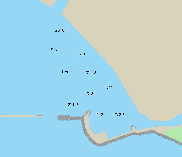 彼杵港ポイント図