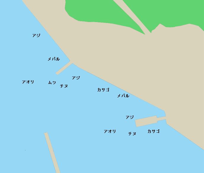 田平港ポイント図