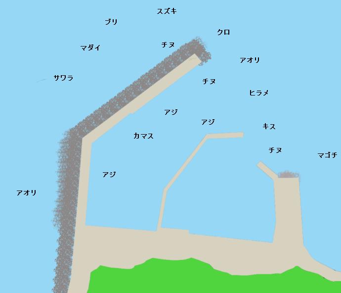高浜港ポイント図