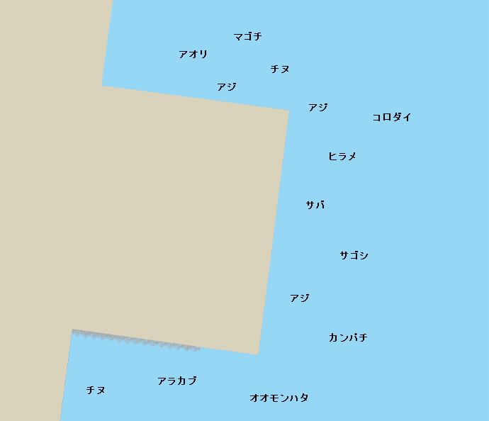 谷山ヘリポートポイント図
