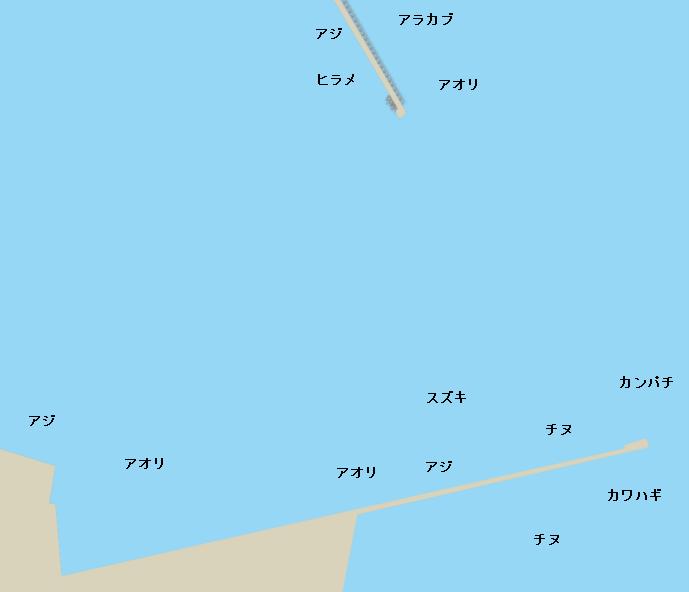 谷山港ポイント図