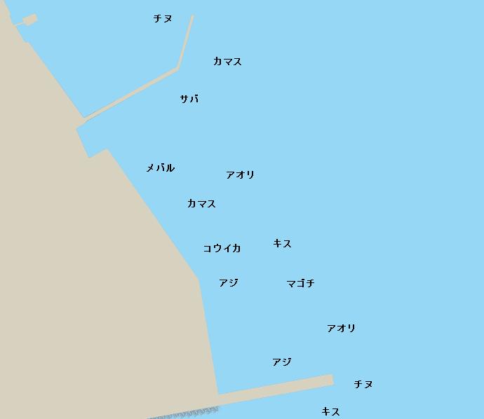 富岡港ポイント図
